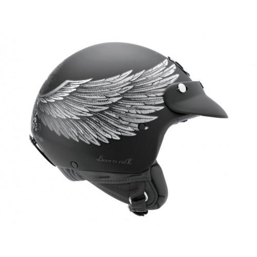 CASQUE JET NEXX X60 EAGLE RIDER BLK/SILVER MT