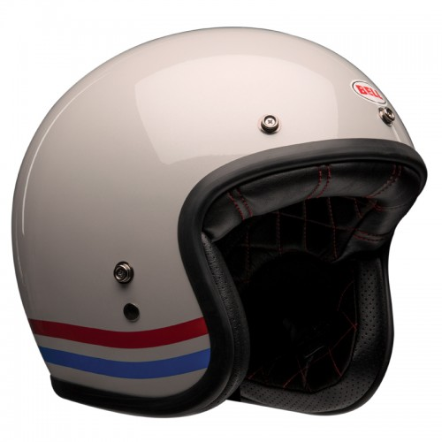 Casque moto Jet Homme BELL Custom 500 stripes pearl
