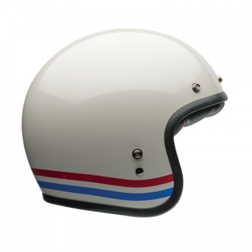 Casque moto Jet Homme BELL Custom 500 stripes pearl