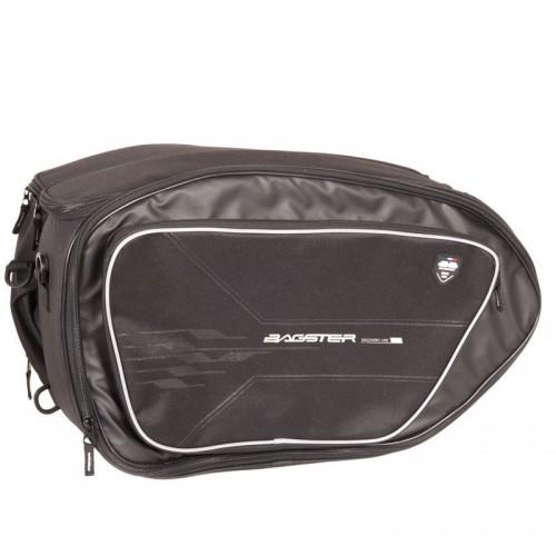 Saddle bag VECTOR NOIR/ACIER - BAGSTER