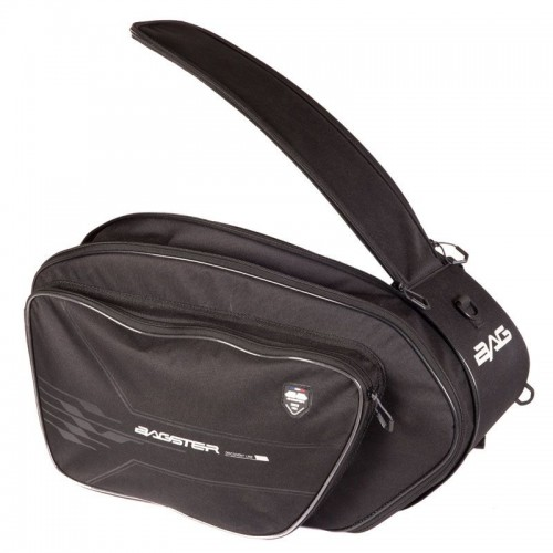 Saddle bag VECTOR NOIR/ACIER - BAGSTER