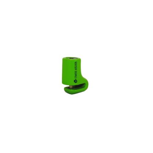 ANTIVOL Bloque-disque zamac vert PETIT model (pin de 5 mm) + Housse - FRANCE ANTIVOL