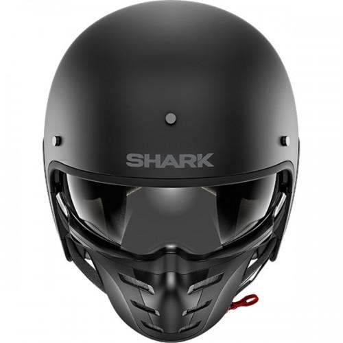 CASQUE S-DRAK BLANK MAT-SHARK