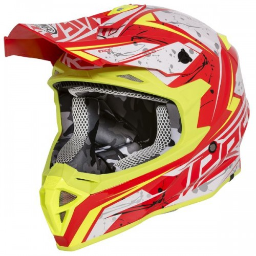 CASQUE MOTO CROSS EXIGE QX2 DECO-PREMIER