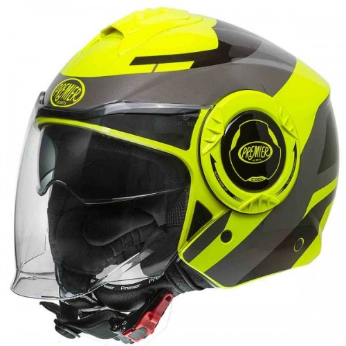 CASQUE MOTO JET COOL OPT FLUO-PREMIER
