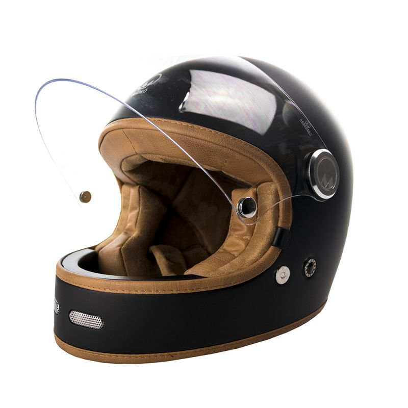 CASQUE INTEGRAL FULL MOON - MÂRKÖ (Noir Mat/Marron)