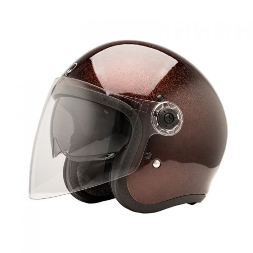 CASQUE JET HERA 2 - MÂRKÖ (Brown Flake)
