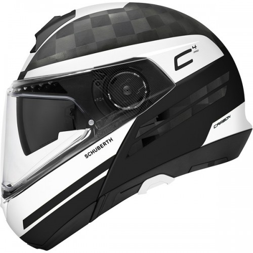 CASQUE C4 PRO CARBON ECE Tempest White-SCHUBERTH