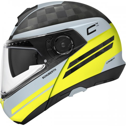 CASQUE C4 PRO CARBON ECE Tempest Yellow-SCHUBERTH
