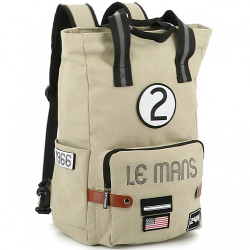 24H Le Mans LEGENDE - Grand sac à dos beige