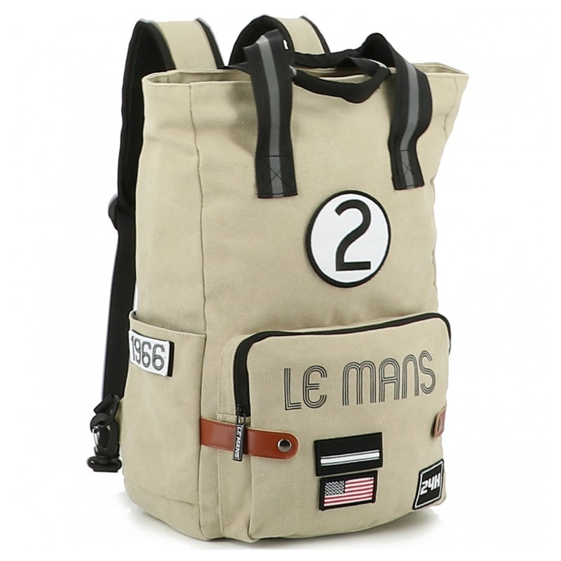 24H Le Mans LEGENDE - Grand sac à dos beige