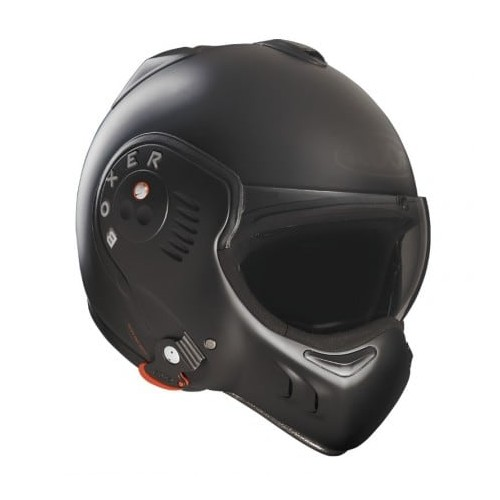 CASQUE MODULABLE BOXER V8 FULL BLACK-ROOF