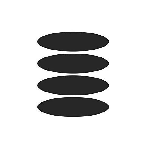 Stickers réfléchissants noirs x4