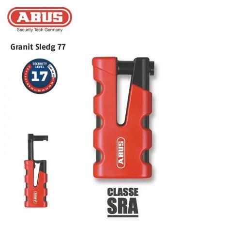 Antivol Bloque-disque 77 Granit Sledg SRA grip rouge - ABUS