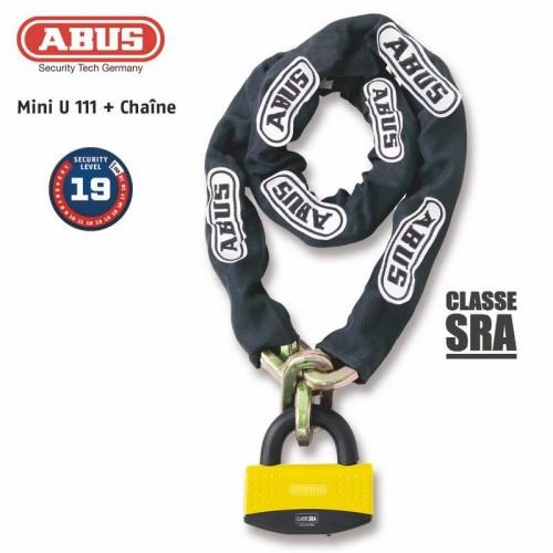 Antivol U + chaine 111 + 12KS/80 loop SRA - ABUS