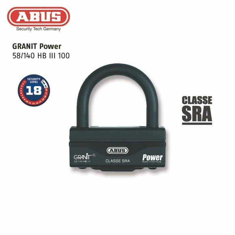 Antivol U + chaîne ABUS 58HB3+12KS80L