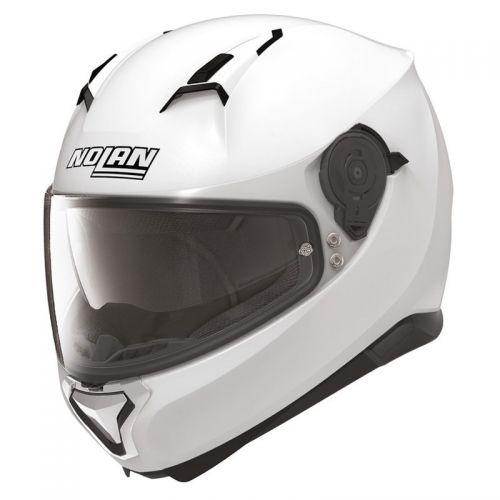 Casque Moto Intégral NOLAN - N87 Classic N-Com Metal White