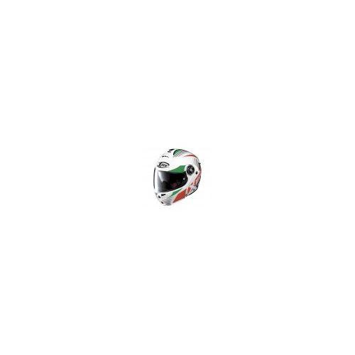Casque Moto Modulable NOLAN - X1004 Nordhelle n-Com Metal White/Green-Red