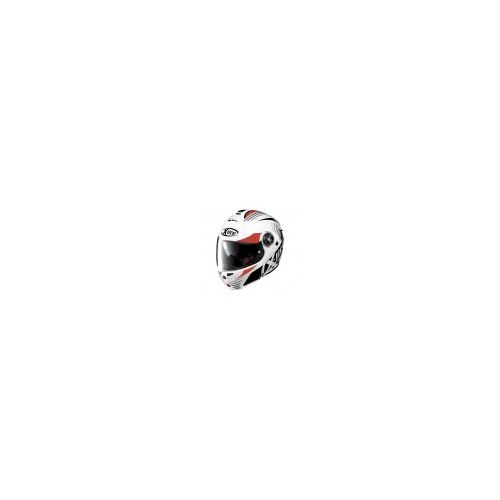 Casque Moto Modulable NOLAN - X1004 Nordhelle n-Com Metal White/Red-Black