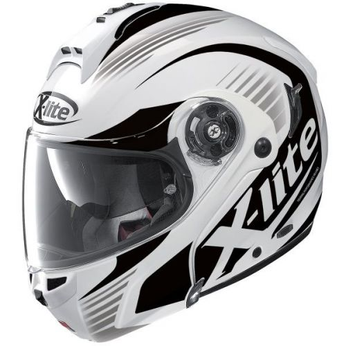 Casque Moto Modulable NOLAN - X1004 Nordhelle n-Com Metal White/black