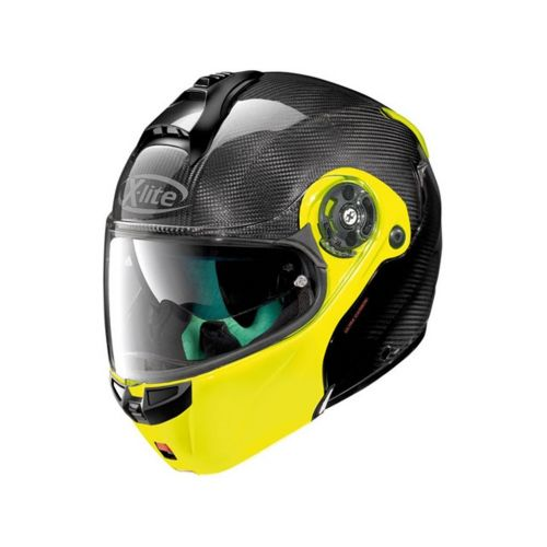 Casque Moto Modulable NOLAN - X1004 Ultra Carbon n-Com Dyad Fluo n-Com Yellow