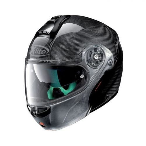 Casque Moto Modulable NOLAN - X1004 Ultra Carbon n-Com Dyad Scratched n-Com Chrome
