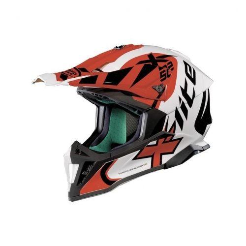 Casque Moto Motocross NOLAN - X502 Xtrem Metal White