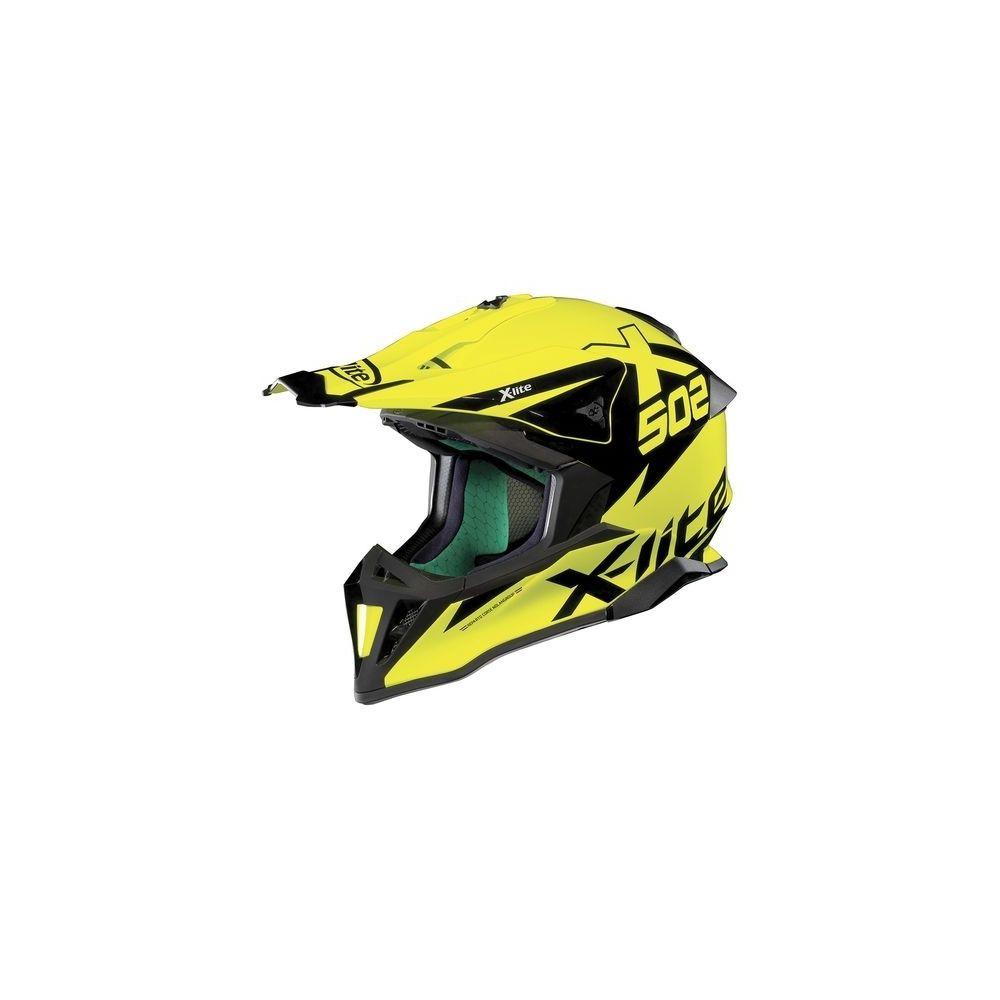 casque moto motocross nolan x502 matris led yellow speed wear. Black Bedroom Furniture Sets. Home Design Ideas
