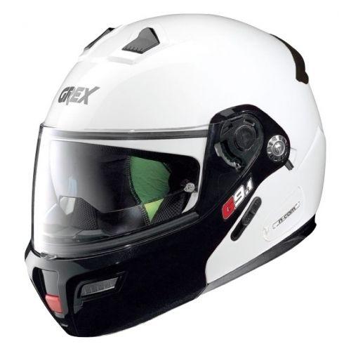 Casque Moto Modulable NOLAN - G9.1 Evolve Couplé n-Com Metal White