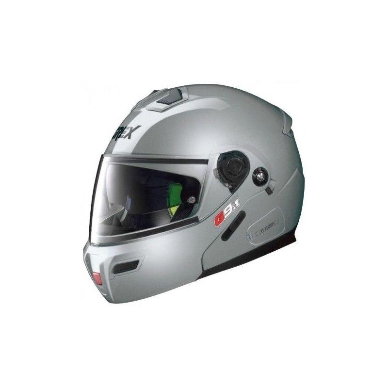 Casque Moto Modulable NOLAN - G9.1 Evolve Kinetic n-Com Metal Silver