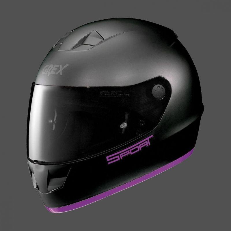 Casque Moto Intégral NOLAN - G6.1 K-sport Flat Black/purple