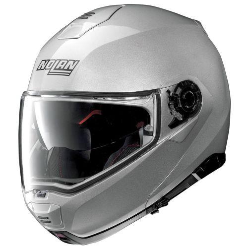 Casque Moto Modulable NOLAN - N100 5 Classic n-Com Platinum Silver