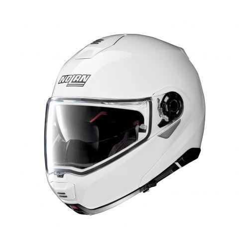 Casque Moto Modulable NOLAN - N100 5 Classic n-Com Metal White