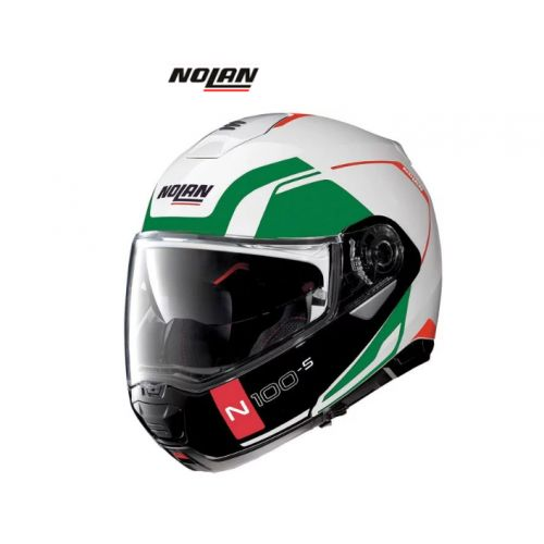 Casque Moto Modulable NOLAN - N100 5 Consistency n-Com Metal White