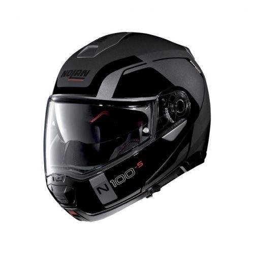 Casque Moto Modulable NOLAN - N100 5 Consistency n-Com Flat Lava Grey