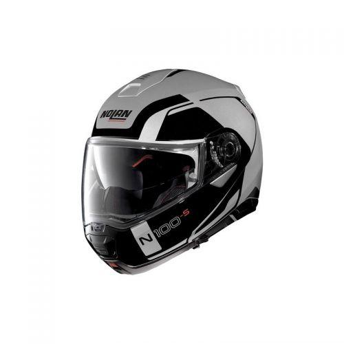 Casque Moto Modulable NOLAN - N100 5 Consistency n-Com Flat Silver