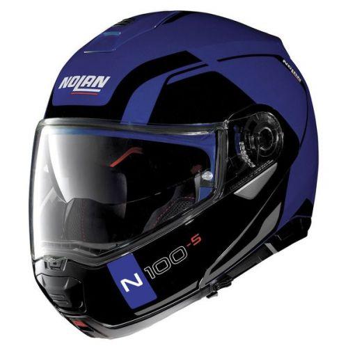 Casque Moto Modulable NOLAN - N100 5 Consistency n-Com Flat Cayman Blue