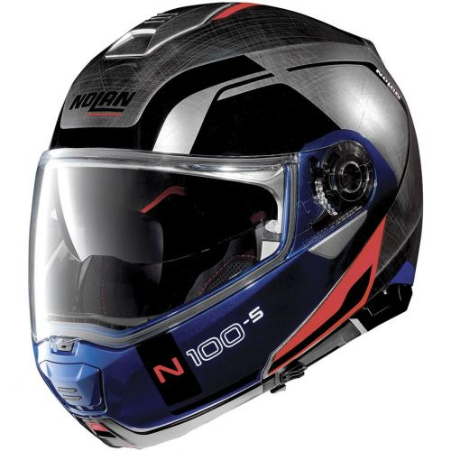 Casque Moto Modulable NOLAN - N100 5 Consistency n-Com Scratched Chrome
