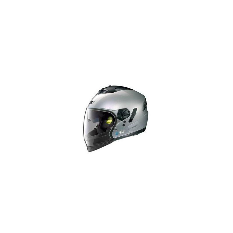 Casque Moto Jet NOLAN - G4.2 Pro Kinetic n-Com Metal Silver