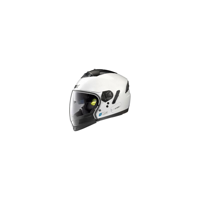 Casque Moto Jet NOLAN - G4.2 Pro Kinetic n-Com Metal White