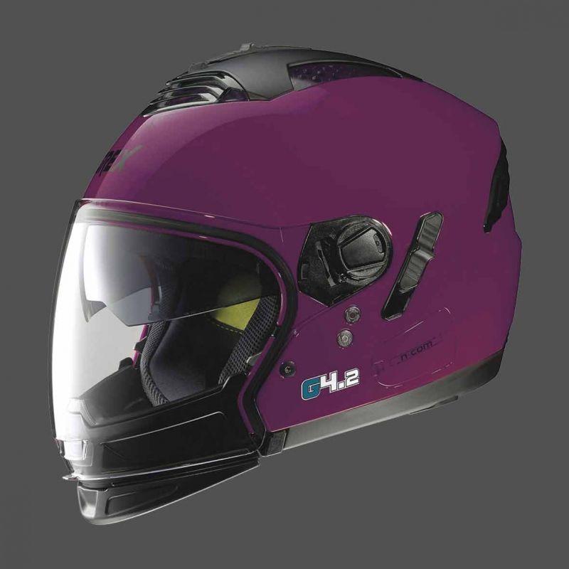 Casque Moto Jet NOLAN - G4.2 Pro Kinetic n-Com EX Fuchsia Kiss