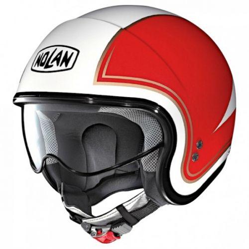 Casque Moto Jet NOLAN - N21 Tricolore Metal White