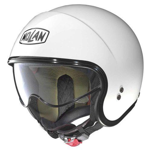 Casque Moto Jet NOLAN - N21 VISOR Classic Metal White