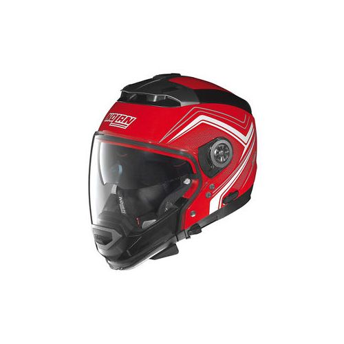 Casque Moto Jet NOLAN - N44EVO Viewpoint n-Com Corsa Red